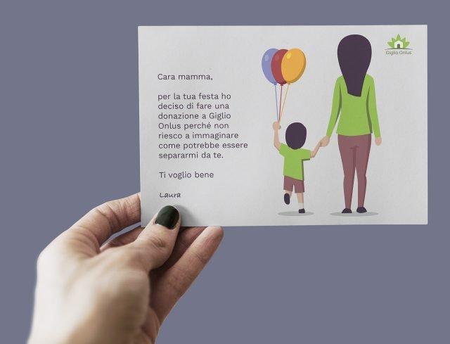 Giglio Festa Mamma Cartolina